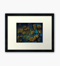 Molten - Abstract Pixel Art Framed Print