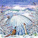 Border Seasons Winter (watercolour on paper) by Lynne Henderson