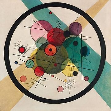 KANDINSKY, Circles in a Circle, 1923 by TOMSREDBUBBLE