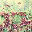 Sea Poppies (watercolour on paper) by Lynne Henderson