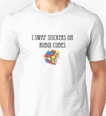 I swap stickers on Rubix Cubes T-Shirt