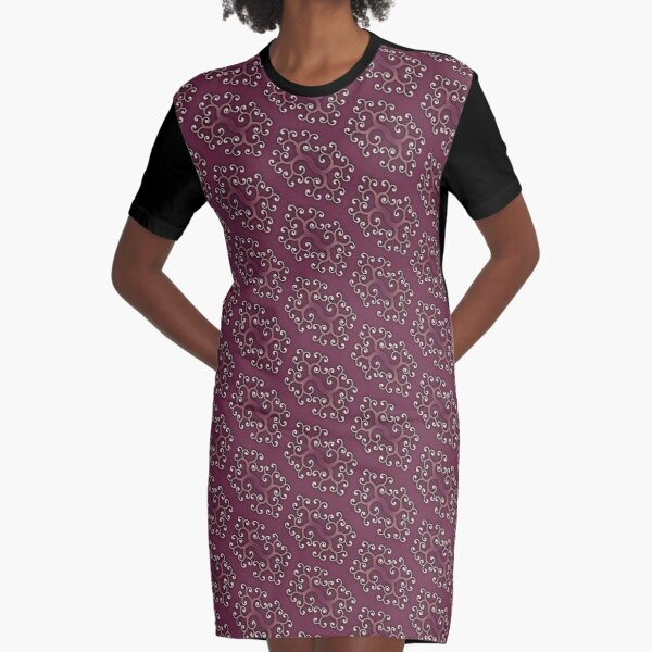 Classic Swurl Pattern Number 1 Graphic T-Shirt Dress