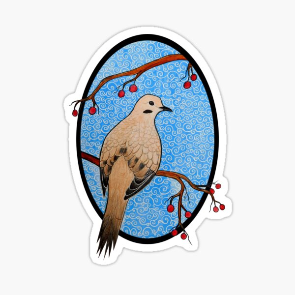 Good Mourning, Dove (With a Dark Background) Sticker