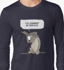 Cartoon Anime Rabbit Satire - Seriously Long Sleeve T-Shirt