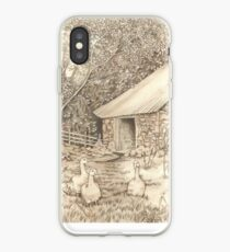 Old Ancrum Pastoral (pencil, ink and wash on paper) iPhone Case
