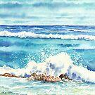 Seascape (watercolour on paper) by Lynne Henderson