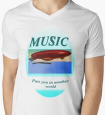 Music Another World Mens V-Neck T-Shirt