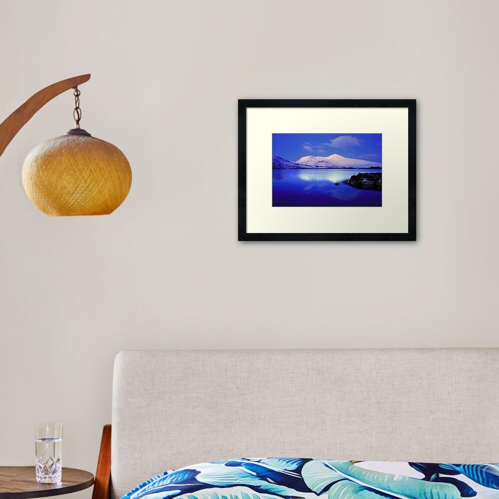 Blackmount Snow Framed Art Print