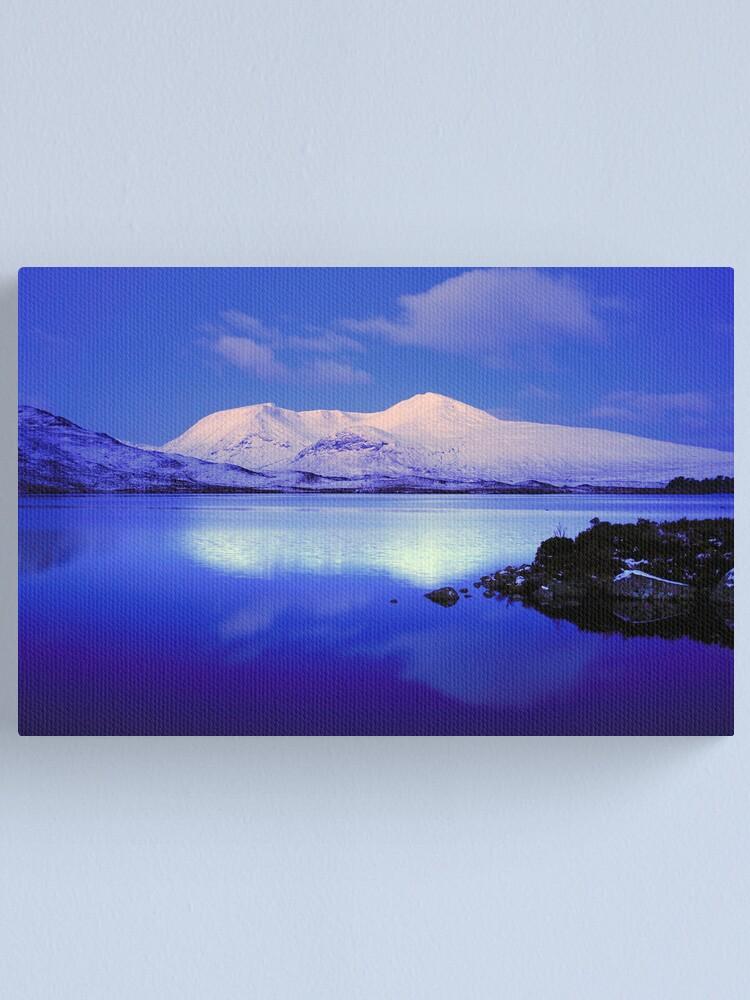 Alternate view of Blackmount Snow Canvas Print