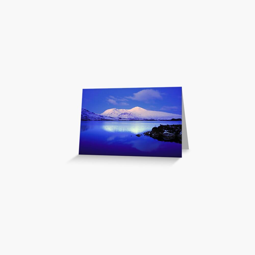 Blackmount Snow Greeting Card