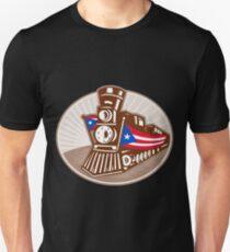 Camiseta ajustada Steam Train Locomotive
