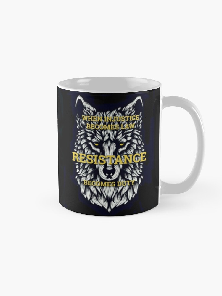 Alternate view of Resistance Wolf  Mug