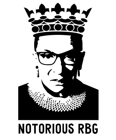 notorious rbg ruth bader ginsberg posters by ecokeeps redbubble