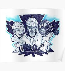 """Toronto Maple Leafs """"Celebrating The Win"""" Poster"""