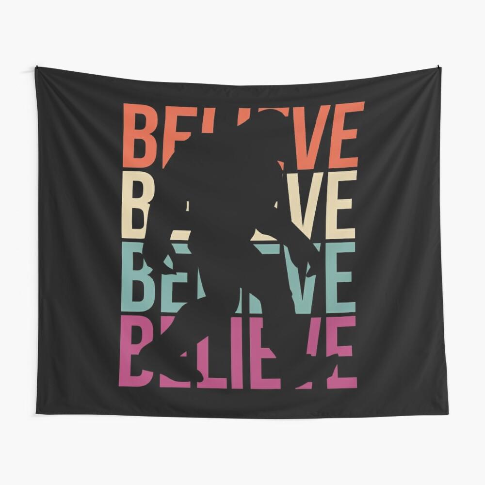 Bigfoot T-shirt I Believe Bigfoot Sasquatch Yeti Funny Shirt Wall Tapestry