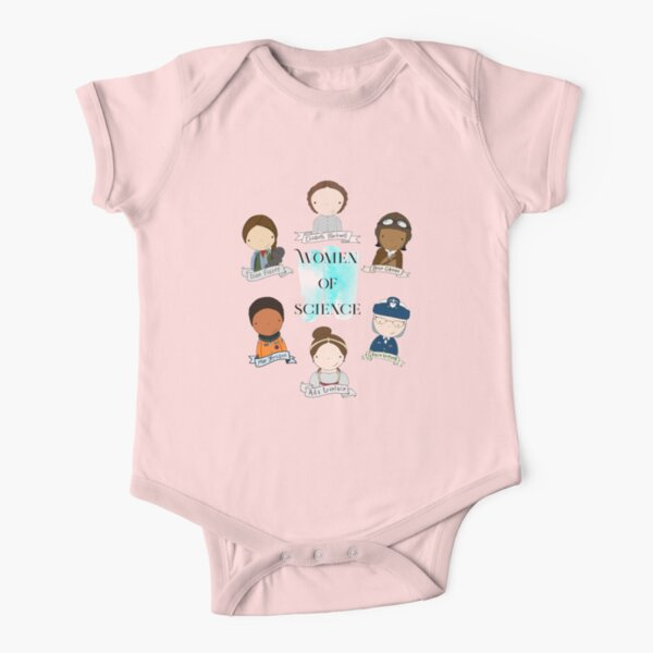 Women of Science Short Sleeve Baby One-Piece