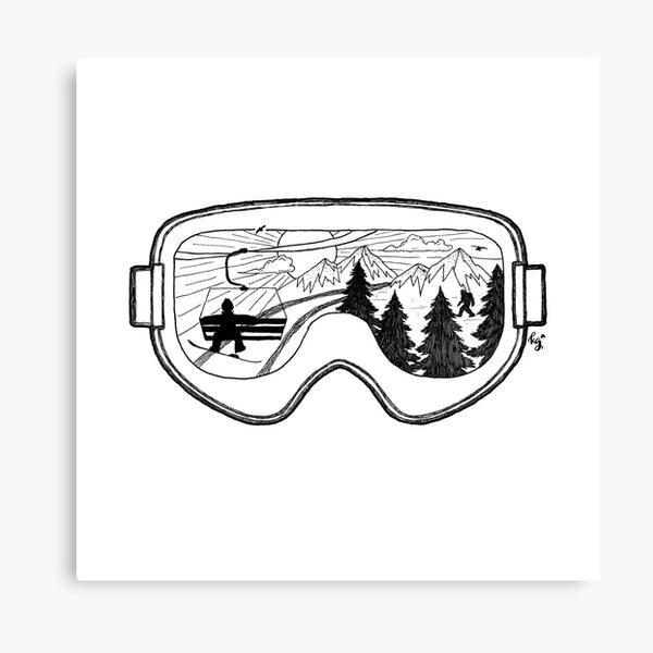 Snow Lift , Exit Left Canvas Print