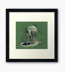 Elephant Walk Framed Print