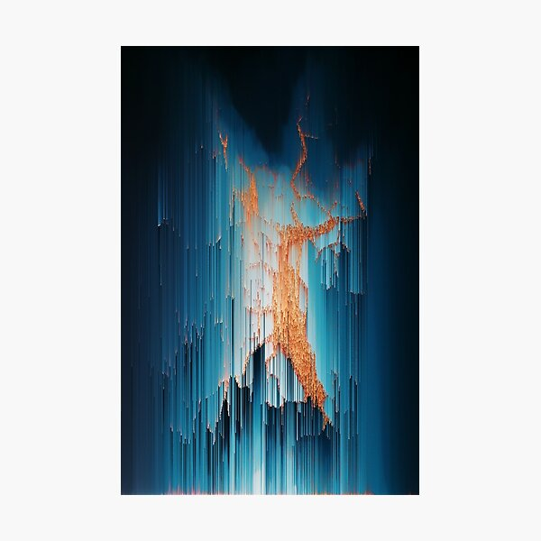 Glitch in the Dark - Abstract Pixel Art Photographic Print