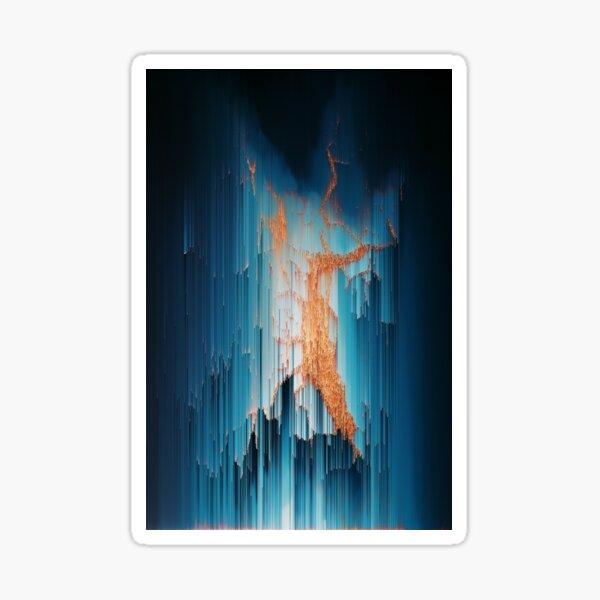 Glitch in the Dark - Abstract Pixel Art Sticker