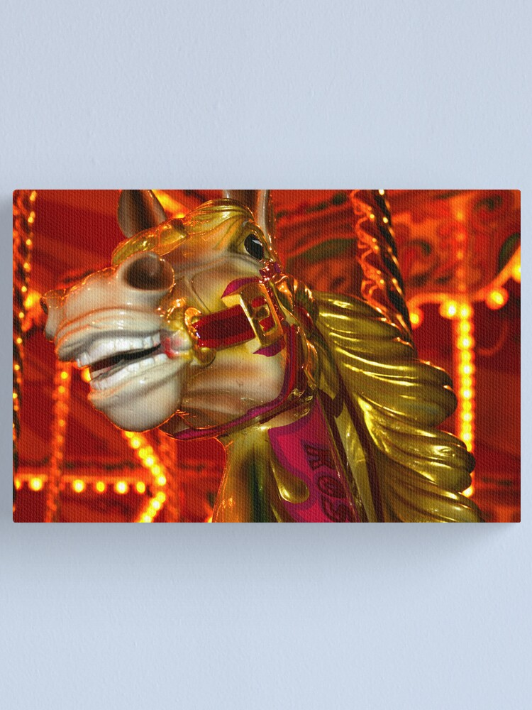 Alternate view of Carnival Horse Canvas Print