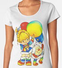 "Vintage ""Up, Up & Away"" Rainbow Brite, Sprite, Twink, White, Colorful, Bright, Retro, Yellow, Gold, Mustard, 80's, Cartoon, Babies, Throwback, Pop Culture, My Childhood   Women's Premium T-Shirt"