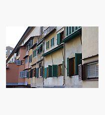 Ponte Vecchio Shutters Photographic Print
