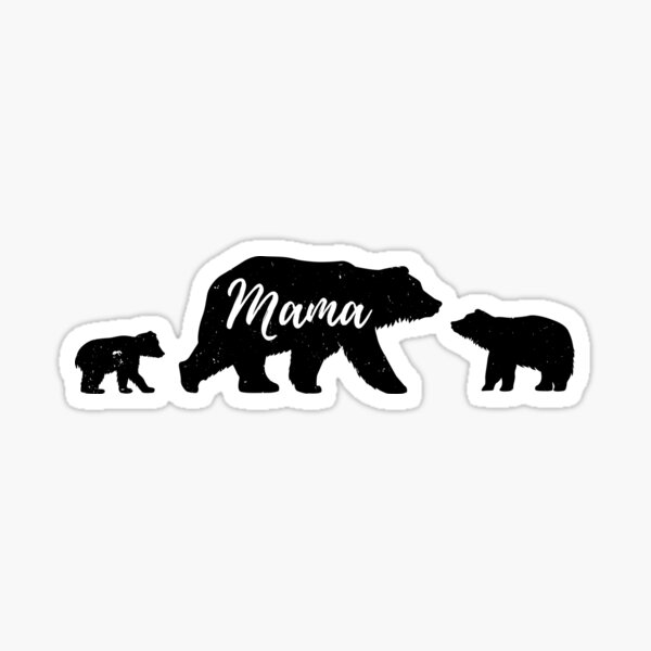 Mama Bear with 2 cubs T-Shirt Sticker