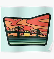 Sunshine Skyway Sunset Poster