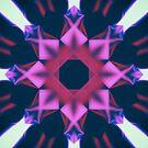 Dark Violet Mandala by Conundrum Arts