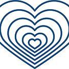 «Multi forma de corazón azul» de Jodie Andrews