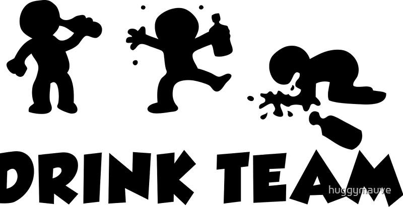 Alcool Divertidos Dibujos Animados Despedida De Soltero Equipo De Bebidas Lámina Artística