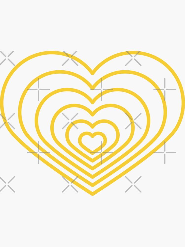 Forma de corazón amarillo múltiple de jashirts