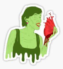 Zombitch rip out my heart Sticker