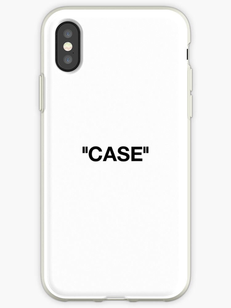 new arrival 32cf3 e24c2 'Off White Case Label Quotation' iPhone Case by kingjoshuae