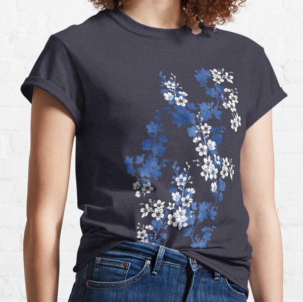 Sakura blossom in deep blue Classic T-Shirt