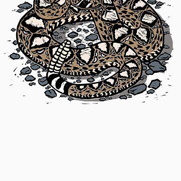 Rattlesnake! T-shirt by SigneNordin