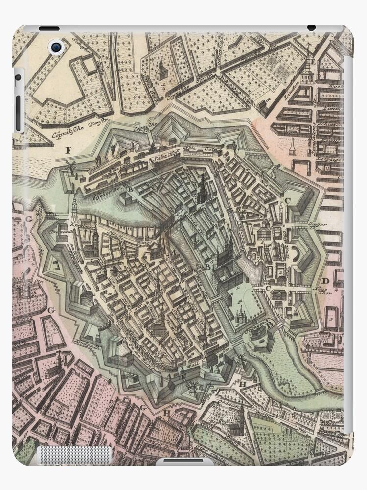 Vintage Karte von Berlin Deutschland (1716) von BravuraMedia