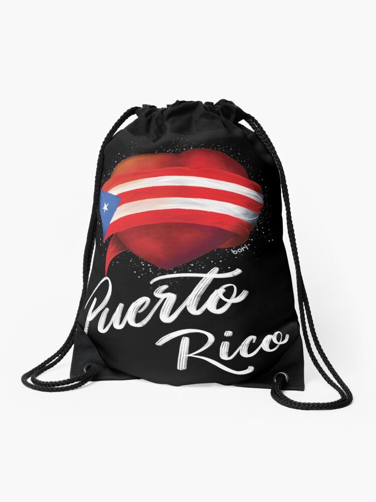 Puerto Rican Flag I Heart Unisex Single Shoulder Pack Classic Handbag