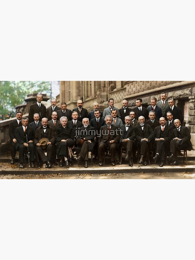 The Solvay Conference Color by jimmywatt