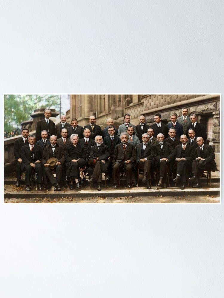 Alternate view of The Solvay Conference Color Poster