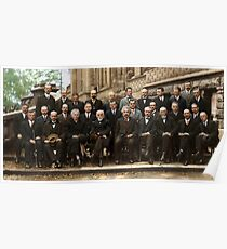 The Solvay Conference Color Poster