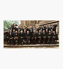 Lámina fotográfica El color de la conferencia Solvay