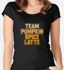 5c9194754 Team Pumpkin Spice Latte - Gift For Coffee Lover Foodie Women's Fitted  Scoop T-Shirt