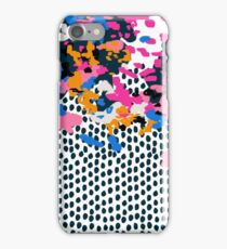 Kenzi - Flowers with Dots - Floral Abstract, graphic design print pattern iPhone Case/Skin