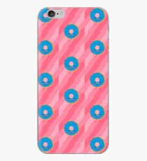Happy blue donut iPhone Case