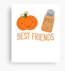 Best Friends Pumpkin Spice - Gift For Coffee Lover Foodie Canvas Print
