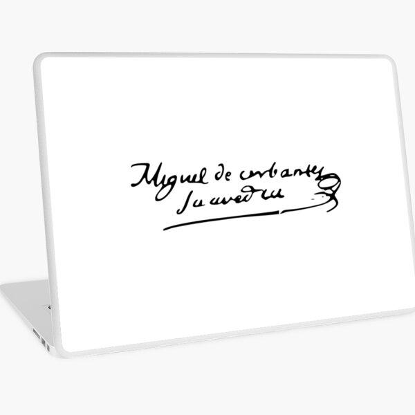 Firma Cervantes Vinilo para portátil