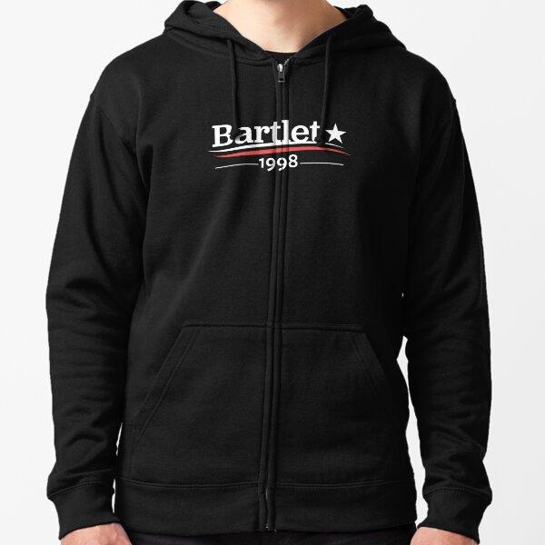 WEST WING Shirt President BARTLET Bartlet 1998 Bartlet For America Zipped Hoodie