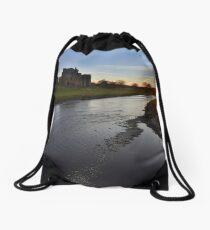 Cumbria: Sunset at Brougham Castle Drawstring Bag